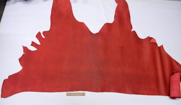 Кожа КРС крейзи хорс (Crazy Horse) с эффектом пул ап (Pull Up), красная, 117 дм2.-D1-746