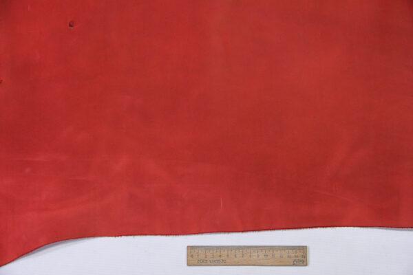 Кожа КРС крейзи хорс (Crazy Horse) с эффектом пул ап (Pull Up), красная, 129 дм2.-D1-748