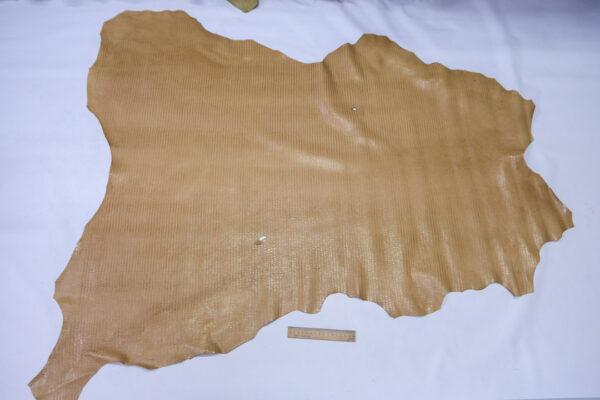 Кожа теленка тиснением, бежевая, 100 дм2, Bonaudo S.p.A.-110635