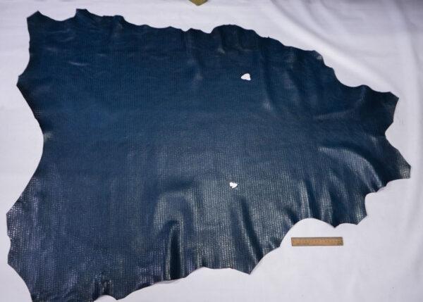 Кожа теленка тиснением, синяя, 114 дм2, Bonaudo S.p.A.-110637