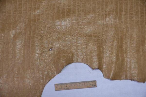 Кожа теленка тиснением, бежевая, 78 дм2, Bonaudo S.p.A.-110639