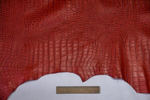 Кожа теленка тиснением, красная, 83 дм2, Bonaudo S.p.A.-110648