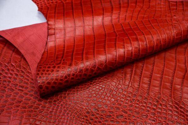 Кожа теленка тиснением, красная, 83 дм2, Bonaudo S.p.A.-110649