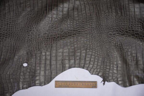 Кожа теленка тиснением, серый хаки, 72 дм2, Bonaudo S.p.A.-110652