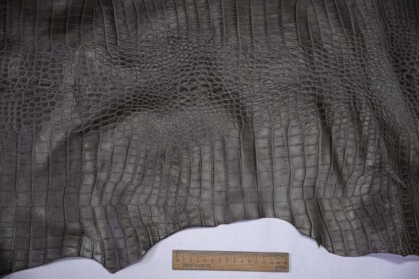Кожа теленка тиснением, серый хаки, 95 дм2, Bonaudo S.p.A.-110658