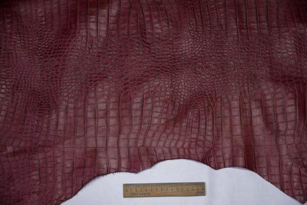 Кожа теленка тиснением, вишневая, 86 дм2, Bonaudo S.p.A.-110660