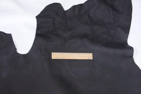 Кожа КРС, флотар покрывной, черный, 128 дм2.-110793