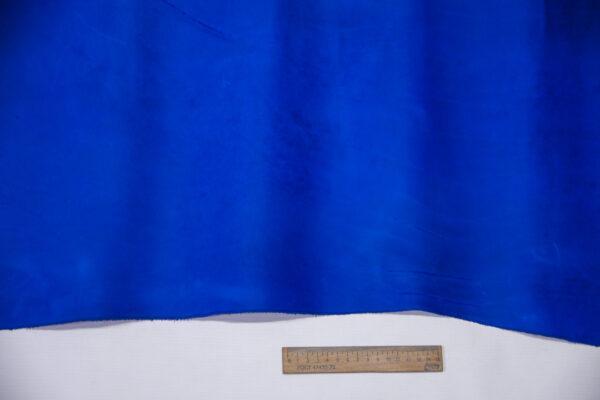 Кожа КРС крейзи хорс (Crazy Horse) с эффектом пул ап (Pull Up), ярко-синяя, 95 дм2.-D1-752