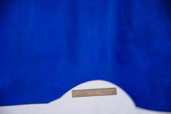 Кожа КРС крейзи хорс (Crazy Horse) с эффектом пул ап (Pull Up), ярко-синяя, 101 дм2.-D1-754